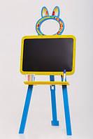 Мольберт двусторонний Active Baby Жёлто-голубой
