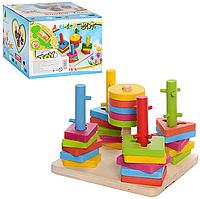 Деревянная игрушка «Пирамидка Ключик»