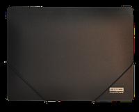 Папка пластиковая А4 на резинках, JOBMAX, черный