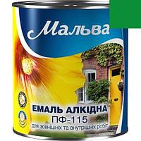 Эмаль ПФ-115 0,9кг МАЛЬВА (зеленый изумруд)