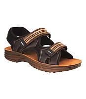 Мужские удобные стильные коричневые сандалии, кожзам 40 Inblu