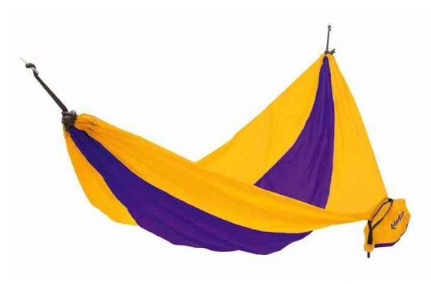 Одноместный гамак KingCamp из нейлона, желто-фиолетовый,до 80 кг. PARACHUTE HAMMOCK(KG3753) Yellow/Purple