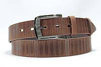Ремень кожаный коричневый 'nova-Belt2017' с узором #11 35 мм