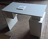 Стіл манікюрний білий з УФ лампою і витяжкою 16 Ват V157, фото 2