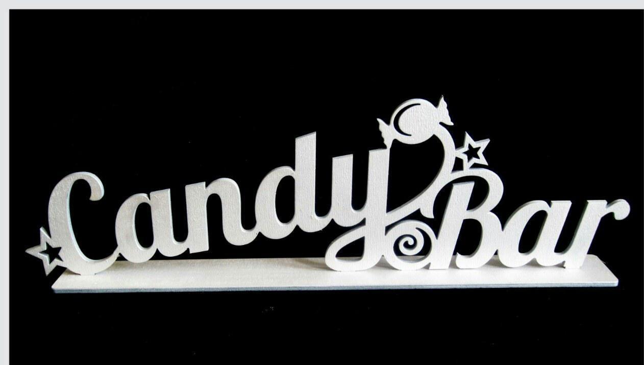 """Стойка надпись """"CANDY BAR"""" белая (код 05984)"""