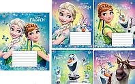 Тетрадь 12 листов в косую линию Зошит Украины Frozen Smile, 794416