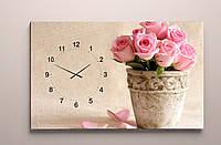 Картина часы холст