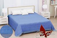 Простынь махровая 200х220 Prizma blue