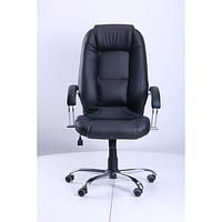 Кресло Надир Лайн Tilt Кожа Люкс комбинированная Черная (AMF-ТМ)
