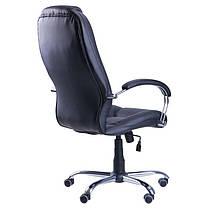 Кресло Надир Лайн Tilt Кожа Люкс комбинированная Черная (AMF-ТМ), фото 3
