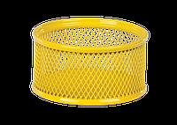 Подставка для скрепок ZIBI ZB.3111-08 металическая желтая