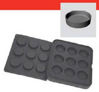 Форма для тарталеток Pavoni Plate W