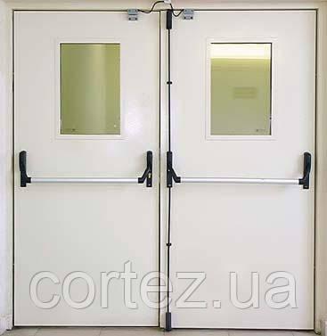 Противопожарные полуторные двери EI30/EI60 ПЖП-2 Антипаника