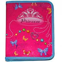Папка на резинке А4 Мультяшки Princess объемная картонная