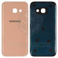 Задняя панель корпуса для мобильных телефонов Samsung A320F Galaxy A3 (2017), A320Y Galaxy A3 (2017), розовая