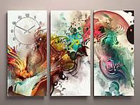 Годинник настінний картина абстракція