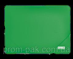Папка пластиковая А4 на резинках, JOBMAX, зеленый