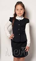 Костюм на девочек в школу (жилет и юбка) 2073