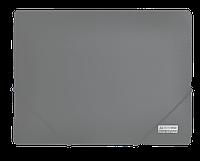 Папка пластиковая А4 на резинках, JOBMAX, серый