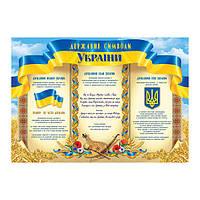 Плакат Фолио «Державні символи України» 154, А2