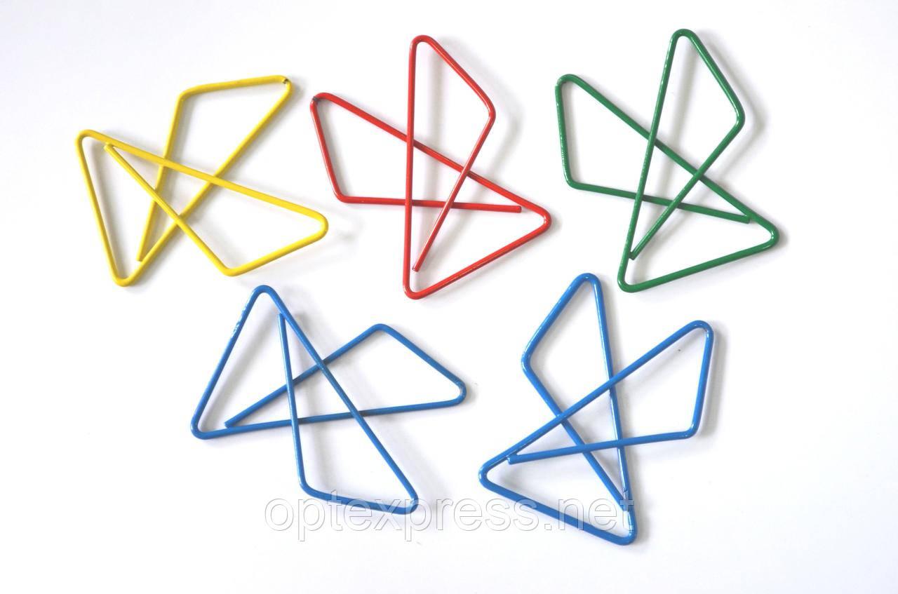 Скрепки металлические фигурные с пластиковым покрытием ALCO