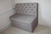 Мягкая мебель на кухню в ткани фиолетового цвета