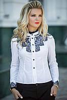 Белая Рубашка с черным кружевом