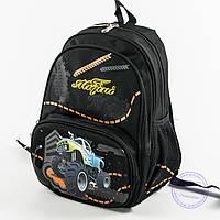 Школьный рюкзак для мальчика с ортопедической спинкой - черный - 9954