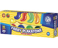 Краски гуашевые 10 цветов Astra, 104291