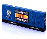 Краски темперные 12 цветов Astra, 104306