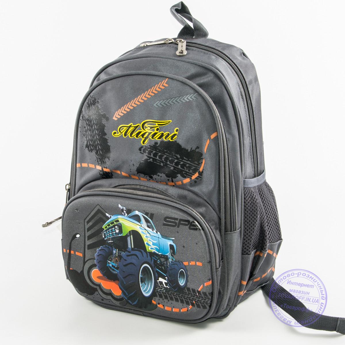 4381d07df0f4 Школьный рюкзак для мальчика с ортопедической спинкой - серый - 9954 ...