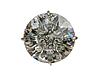 """Кольцо """"Изыск"""" с кристаллами Swarovski, покрытое серебром (h1983000) (Скол изнутри), фото 2"""