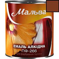 Эмаль для окраски полов ПФ-266 0,9кг МАЛЬВА (красно-коричневый)