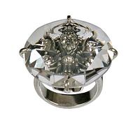 """Кольцо """"Изыск"""" с кристаллами Swarovski, покрытое серебром (h1983000) (Скол изнутри)"""