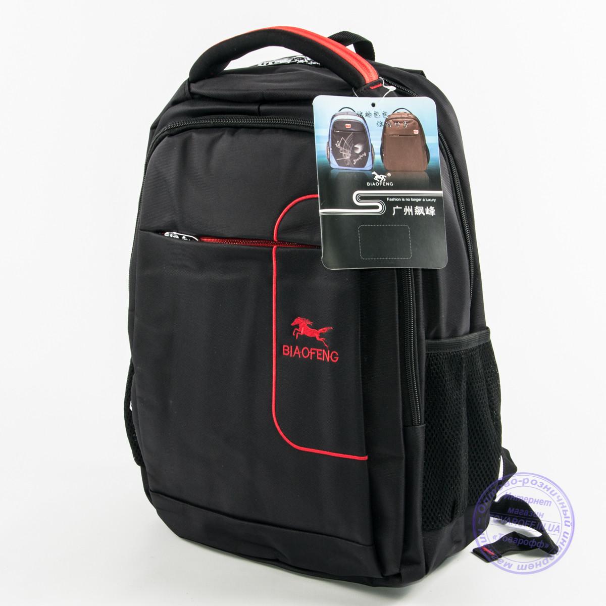 """Крепкий рюкзак для ноутбука 15.4"""" черный - 9111"""