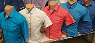 Школьные красивые рубашки для мальчиков Турция,рост 116-170 см -S990