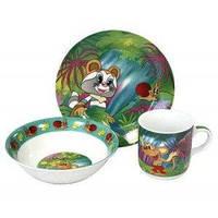Детский набор посуды Кроха енот 7244