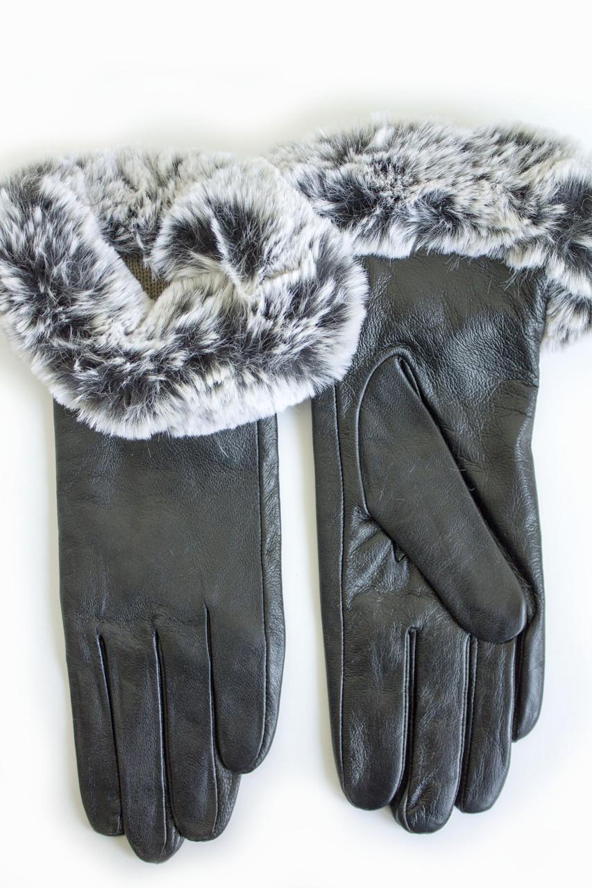 Женские кожаные перчатки КРОЛИК Средние WP-162682s2