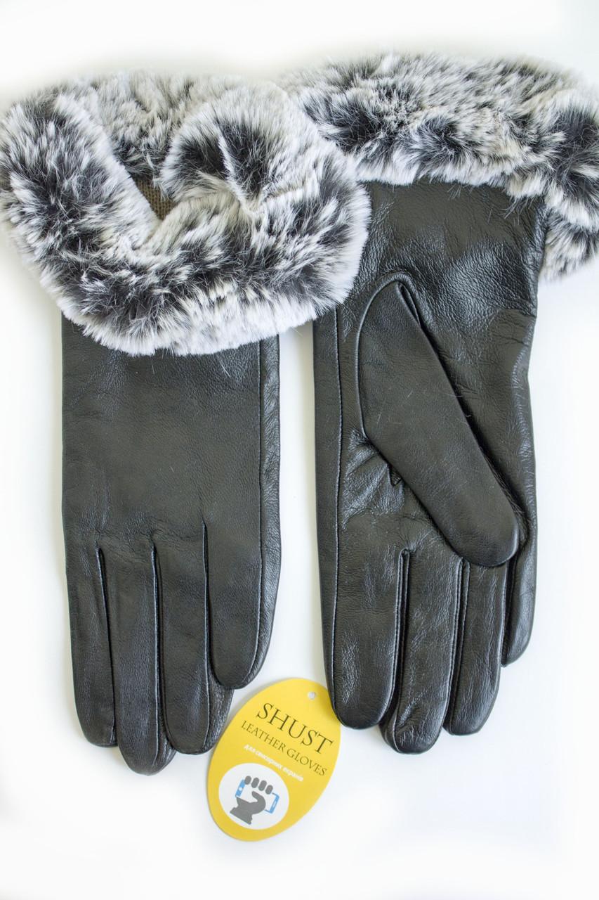 Женские кожаные перчатки ВЯЗКА СЕНСОРНЫЕ Средние WP-162683s2