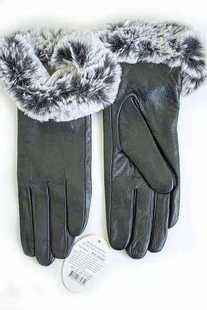 Женские кожаные перчатки КРОЛИК СЕНСОРНЫЕ Маленькие WP-162684s1, фото 2