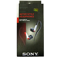 Наушники   (Китай A) Sony MDR-AS40EX black/red (дуга спорт) вакуумные