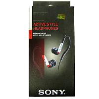 Наушники   (Китай) Sony MDR-AS40EX black/red (дуга спорт) вакуумные