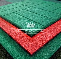 Резиновая плитка 500х500х20 зелёная