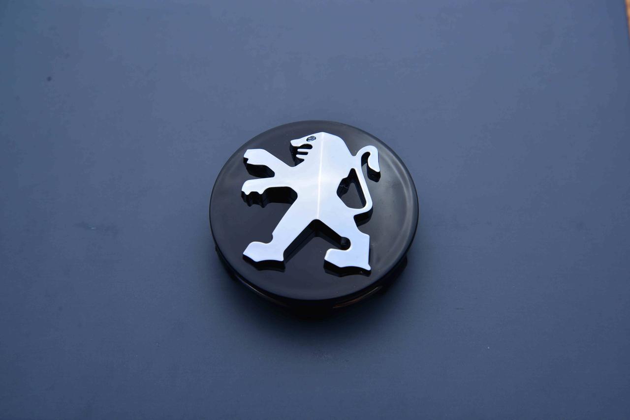 Колпачки заглушки на литые диски в диски Peugeot Пежо Peugeot (60/57/13) черный /хром