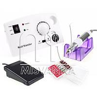 Профессиональная фрезерная машина Nail Master DM-211 для маникюра и педикюра 30 Вт и 35000 об./мин. (white)