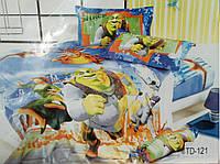 """Комплект постельного белья """"Elway"""" (Элвей) подростковый 3D """"Шрек"""" №TD121"""