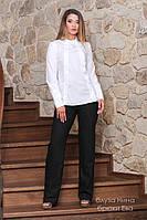 Блуза Нина женская белая рубашка