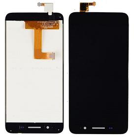 Дисплей (экран) для Huawei GR3 TAG-L03 з сенсором (тачскріном) черный Оригинал