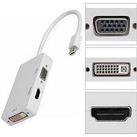 Адаптер mini DisplayPort (папа) = HDMI (мама) = DVI (мама) = VGA (мама) 0.28 м