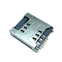 Конектор SIM LG KP500 з конектором карти пам'яті (High Copy)